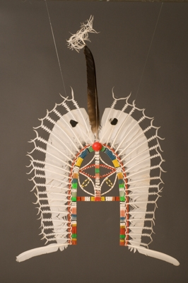 Headdress, Dhari. Made by Wawee Tapau, Townsville.