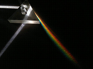 Light refraction through a prism