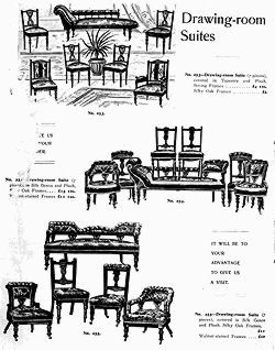 Drawing room suites from a Furniture Catalogue