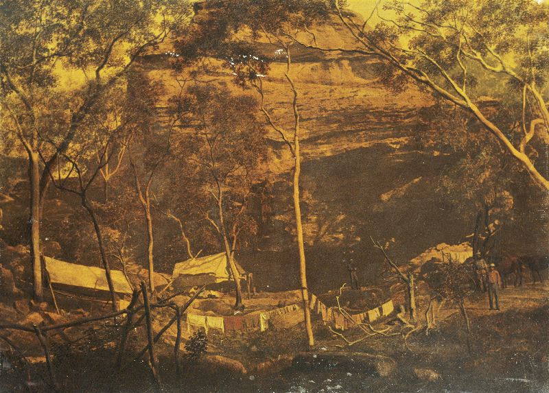 "Cave of Adullam, Cave Creek, Gilbert River"", photo by Richard Daintree"