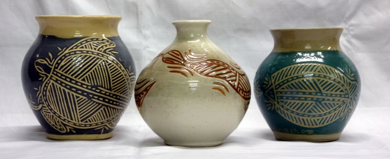 Ceramics made by Christopher Harris of Yarrabah